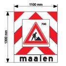 Actiescherm type 1 | B1100 x H1300mm | maaien